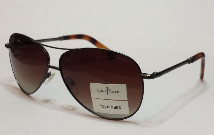 Cole Haan Men #aviator Polarized Brown sunglasses C1669 comes with black pouch ColeHaan visit our ebay store at  http://stores.ebay.com/esquirestore