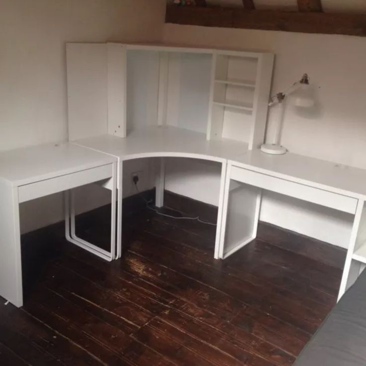 Ikea Micke Corner Station And Two Desks Excellent Condition