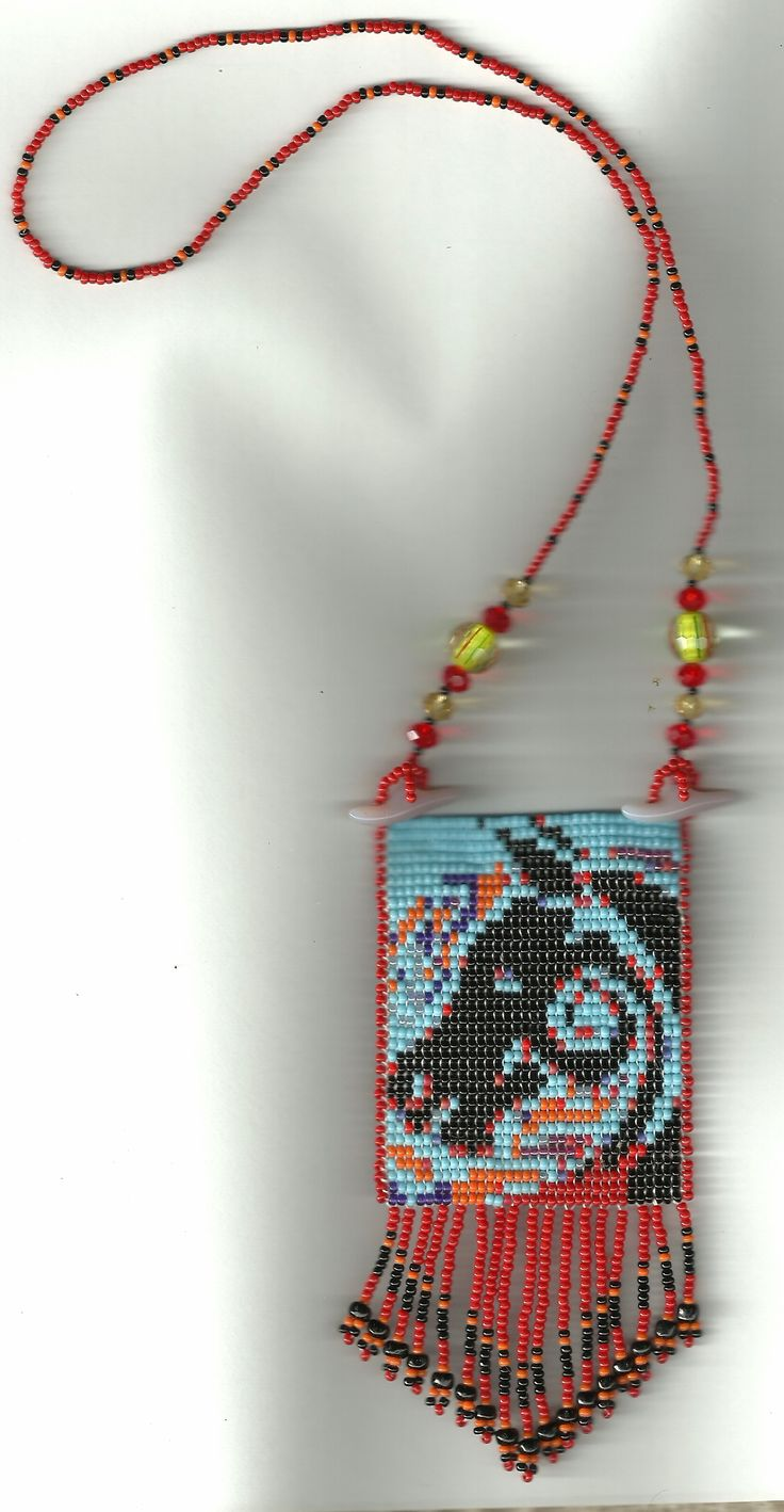 Horse Beaded Necklace Loom Style Basket Weave Bead