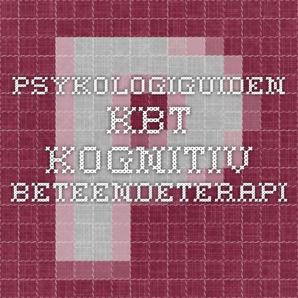 Psykologiguiden - KBT - Kognitiv beteendeterapi