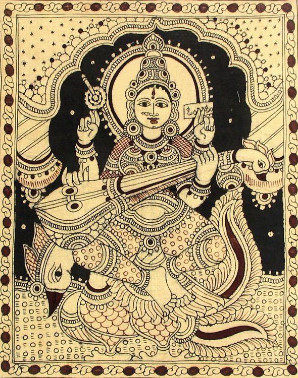 Pen & Inky Saraswati.