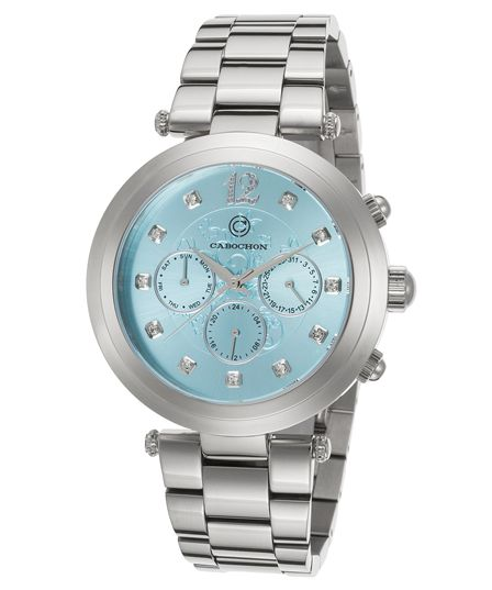 Cabochon Papillon Multi-Function Stainless Turquoise Dial Ss