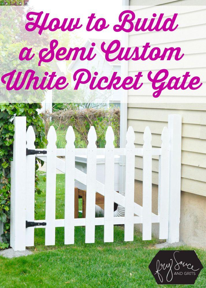 How to Build a Custom White Picket Fence Gate from FrySauceandGrits.com