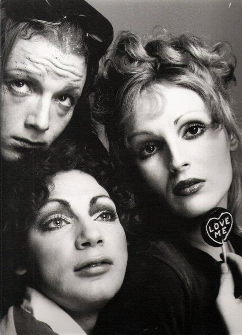 © Richard Avedon • Factory crowd: Jackie Curtis, Holly Woodlawn, and Candy Darling.
