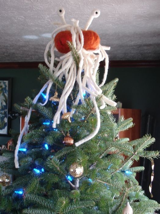 Lol...Love the idea....Top Your Tree With the Flying Spaghetti Monster!