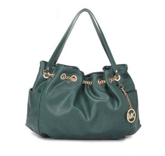 Michael Kors Chain Ring Large Green Shoulder Bags [mk_1663]