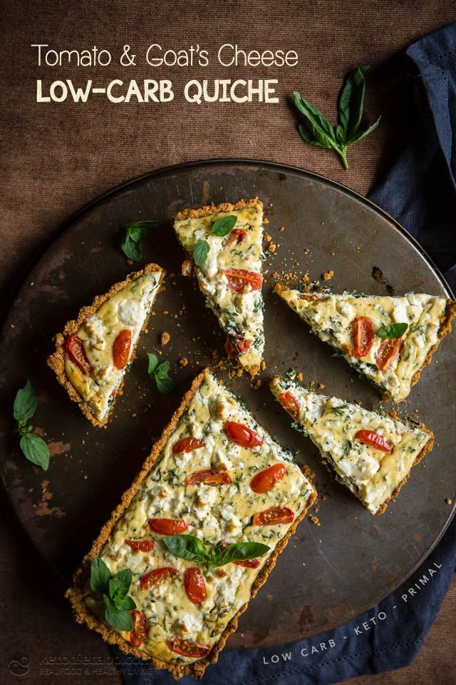 Keto Tomato & Goat's Cheese Quiche (low-carb, keto, primal)