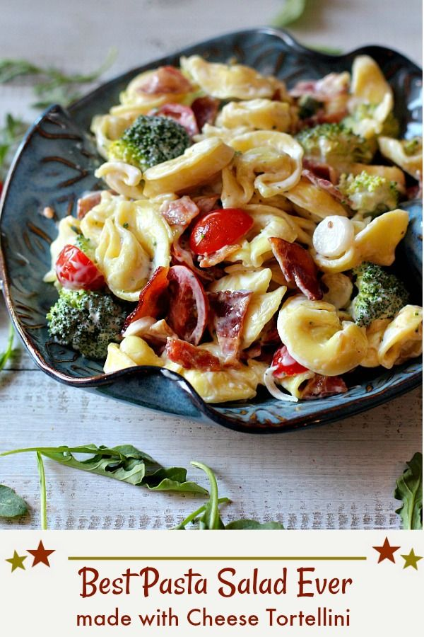 With Bacon Tomatoes Broccoli Onions And An Easy Unique Creamy Dressing If You Re Looking For Pasta Salad Recipes