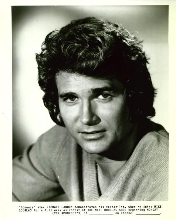 Michael Landon. He played Pa on Little House on the Prairie and could be counted on to take off his shirt, win a fight, rescue an orphan and shed a manly tear, often all in the same episode.