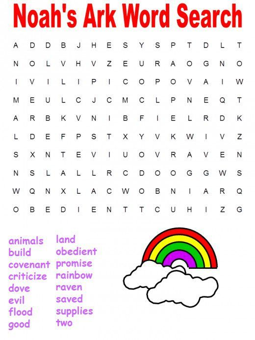 Printable Bible Word Searches From Genesis People