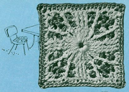 Carolina Modern Bedspread crochet pattern from Bedspreads & Tablecloths, originally published by Coats & Clark, Book No. 301 in 1953.