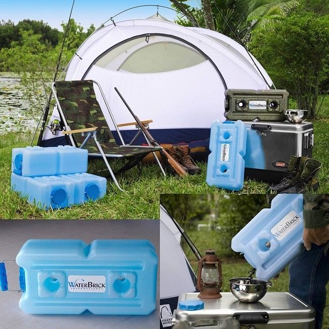Water Storage Containers Long Term Camping Or Emergency Disaster 8 Pack Home Car #WaterBrick