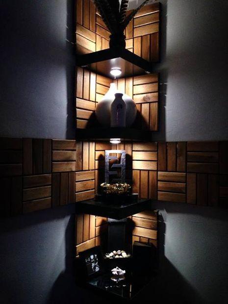 Functional Corner Wall Art Shelves #decoration #storage #organization