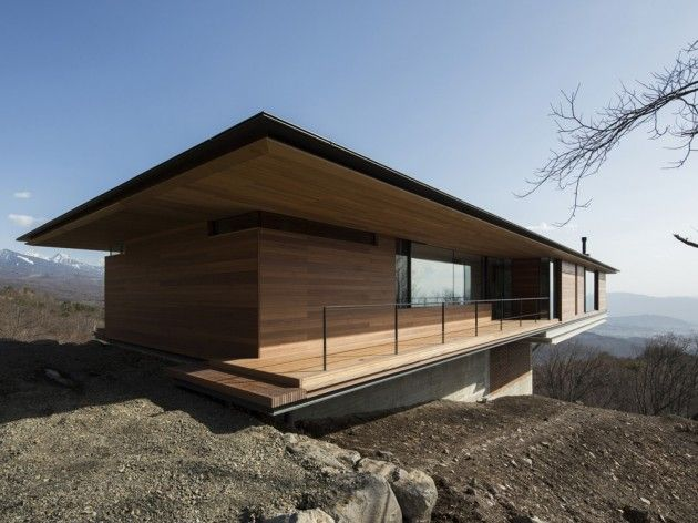 SEE THIS HOUSE THAT HANGS HALFWAY ABOVE THE YATSUGATAKE MOUNTAIN