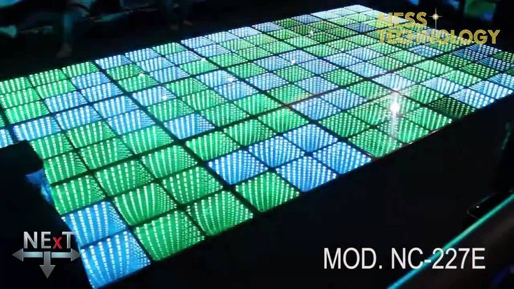 NESS TECHNOLOGY   Eternity NC 227E Eternity Division /Infinity. Led dance floor made in aluminium, termpered glass, with 4, 12, 27 or 48 DMX channels.