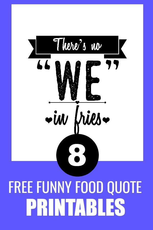 Free Funny Food Printables | Wise Wall Words: Printables