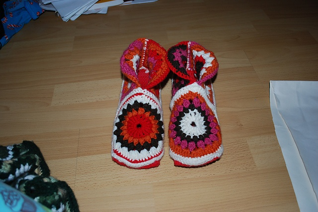 pantuflas: Slippers, Projects, Crochet, Hexagons, Boots, Tissues