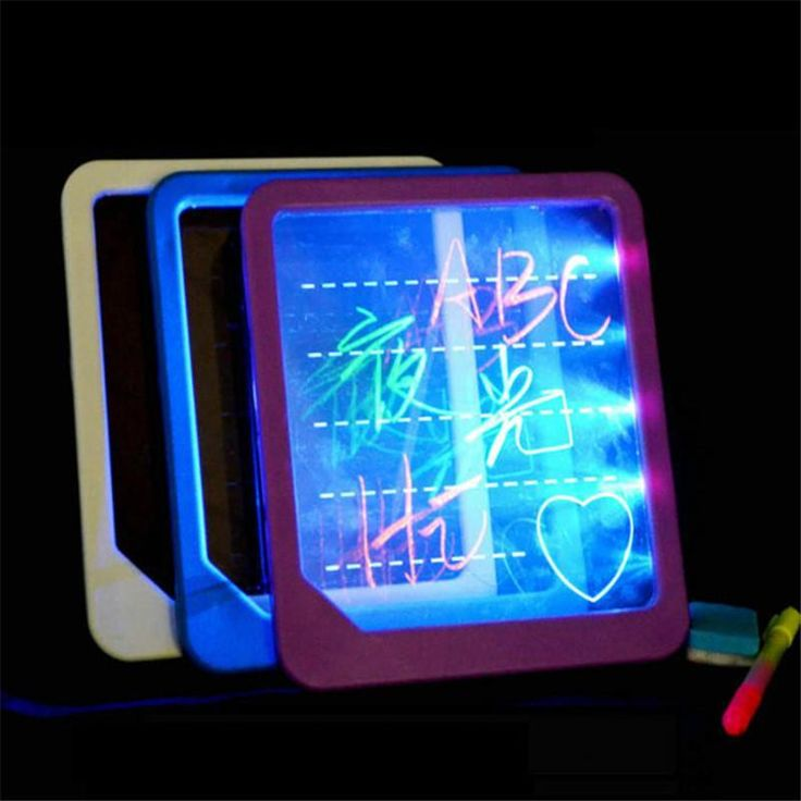[US$7.35] Electronic LED Light Fluorescent Writing Board Luminous Wordpad Handwriting Pad For Kids Gift Toys  #board #electronic #fluorescent #gift #handwriting #kids #light #luminous #toys #wordpad #writing