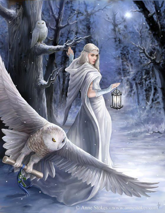 We are ready for winter magic. ♥    Art by Anne Stokes.  http://www.annestokes.com/