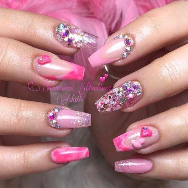 54 Valentines Day Nail Design And Nail Art Ideas Cute Nails