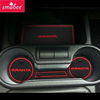 For  Lada Kalina GRANTA Accessories,3D Rubber Car Mat Car Anti Slip Mat, Non-slip Mats Interior Door Pad/Cup Mat  Price: 7.46 USD