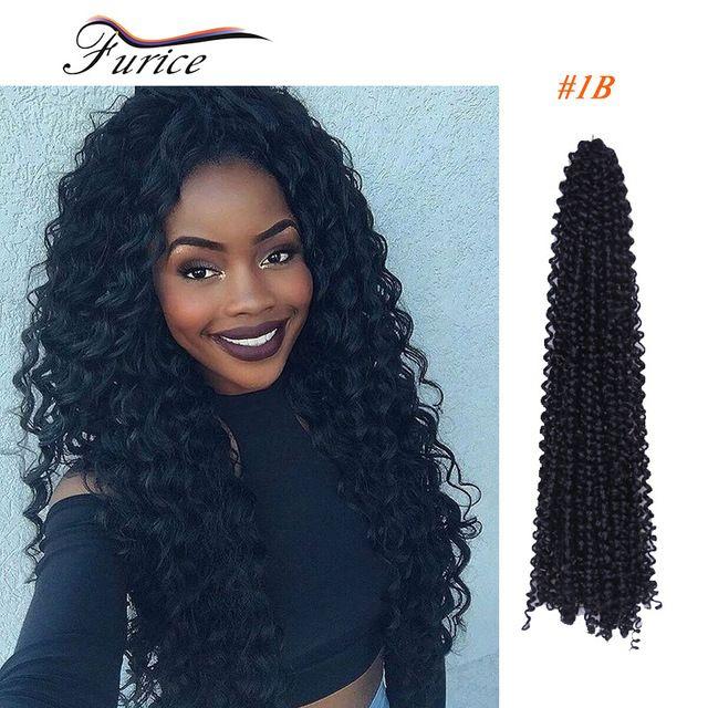 Water Wave Crochet Latch Hook Braiding Hair 18inch Freetress Crochet Braiding Hair Curly Hair Weaves Crochet Synthetic Hair Bulk