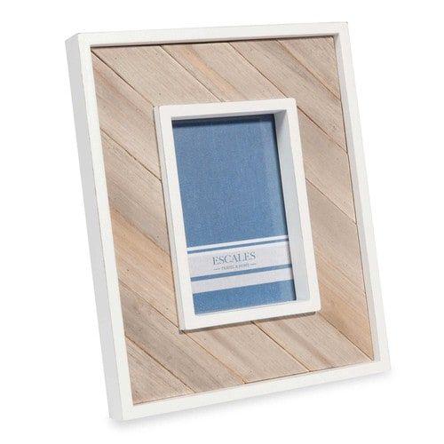 Marco de fotos blanco 10x15 cm MANON