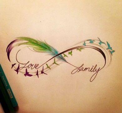 tatuajes de plumas con frases ideas boceto