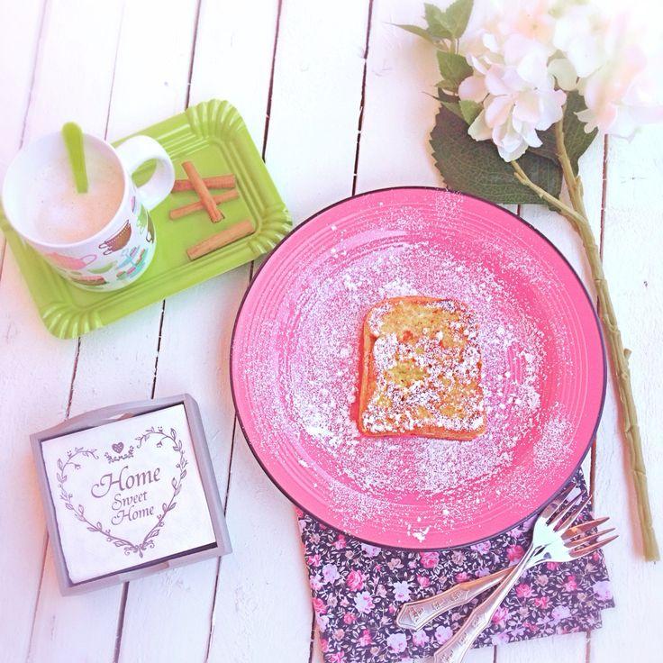 French toast alla Nutella e chai tea latte alla cannella ...