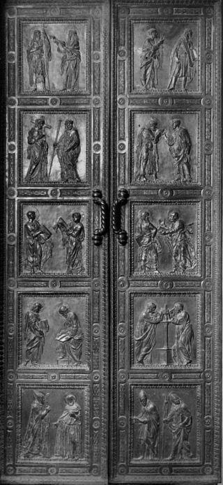 Donatello - Porta degli Apostoli - bronzo - 1440-1443 - Sagrestia Vecchia - Basilica di San Lorenzo - Firenze