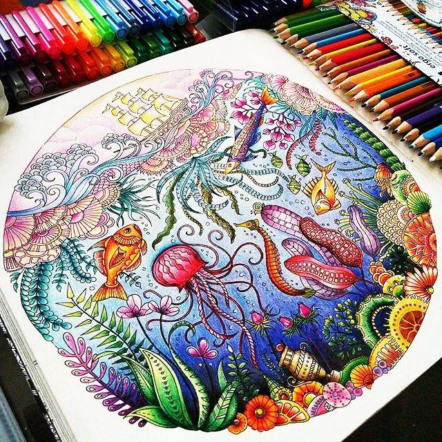 """Lost Ocean"" Colouring Inspiration Pinterest"