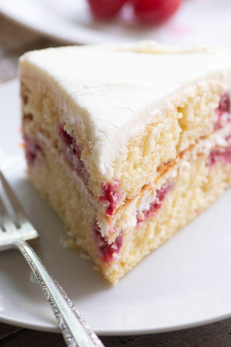 Mein Himbeer-Zitronen-Tee-Kuchen-Rezept ist eine Torte aus Joghurt, frischem Himbeer …   – Baking