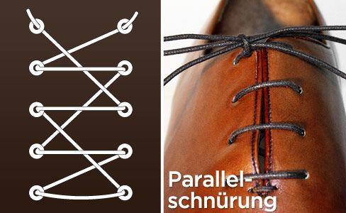 Schuhe schnüren: Parallelschnürung