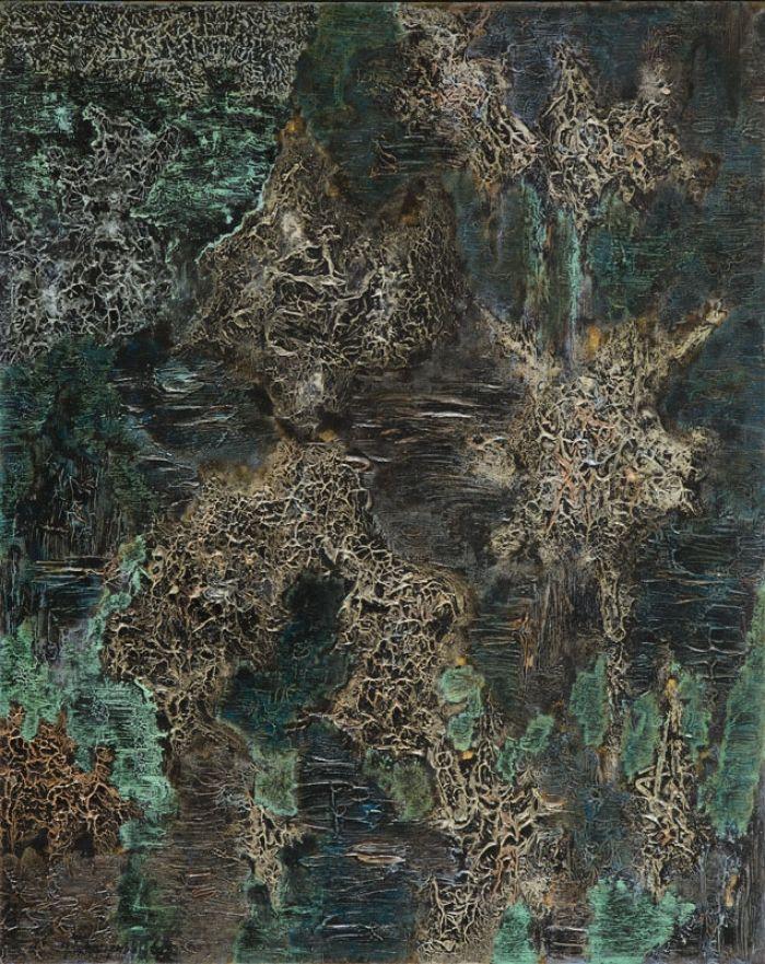 Jerzy Tchórzewski - L'espace bleue, 1964