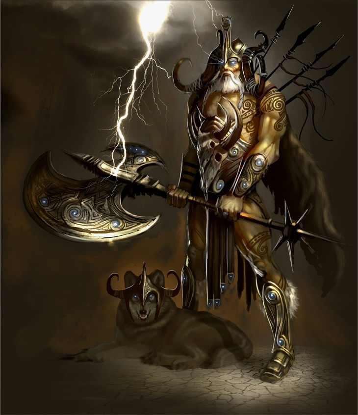 'Odin' by ~ ArtofTy. (Click to view full size.): Mythology God, Allfath Odin, All Fath, Concept Art, Fantasy Art, Actionpack Character, Artofti, Nor Mythology, Vikings Stuff