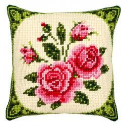 Coussin  Roses  0008521  Vervaco