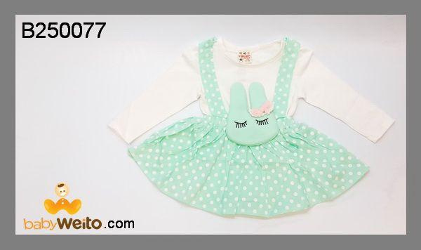 B250077  Baby Dress Hijau Polkadot  Bahan halus dan lembut  Warna sesuai gambar  IDR 135*