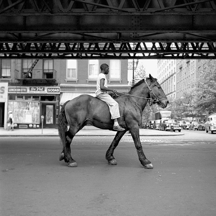 Vivian Maier - Man on horse