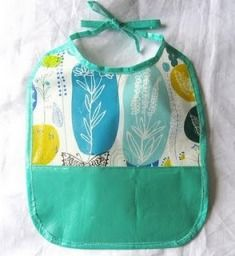 DIY- Wipe clean baby bib from a reusable shopping bag