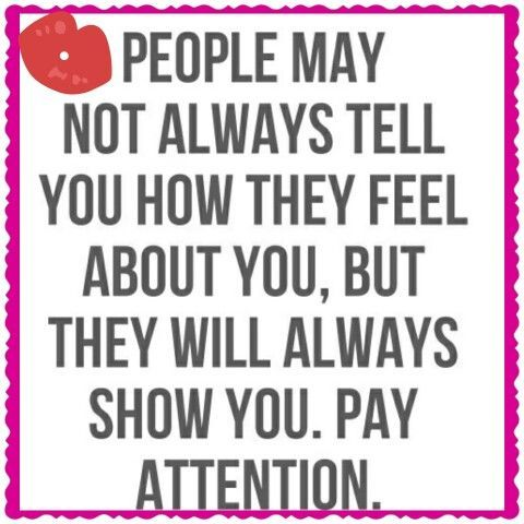 People may not always tell...