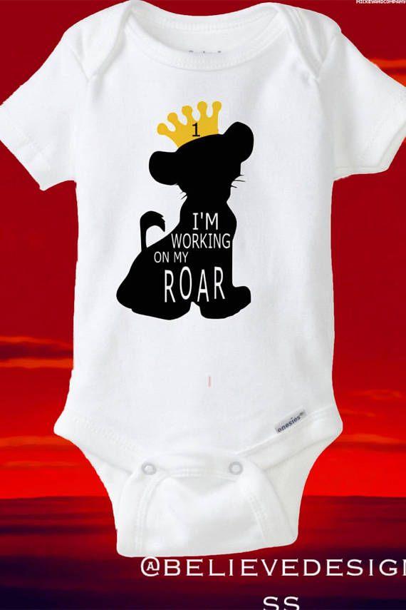 Lion King Onesie Shirt Disney First Birthday Baby Boy Simba