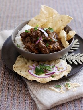 Fruity #WelshLamb curry with Christmas spices and mango. 283 kcal per serving.