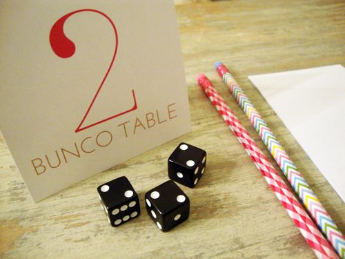 Free Printable Table Cards and Score Sheet from http://libbiegrove.blogspot.co.uk/2012/03/free-printable-bunco.html
