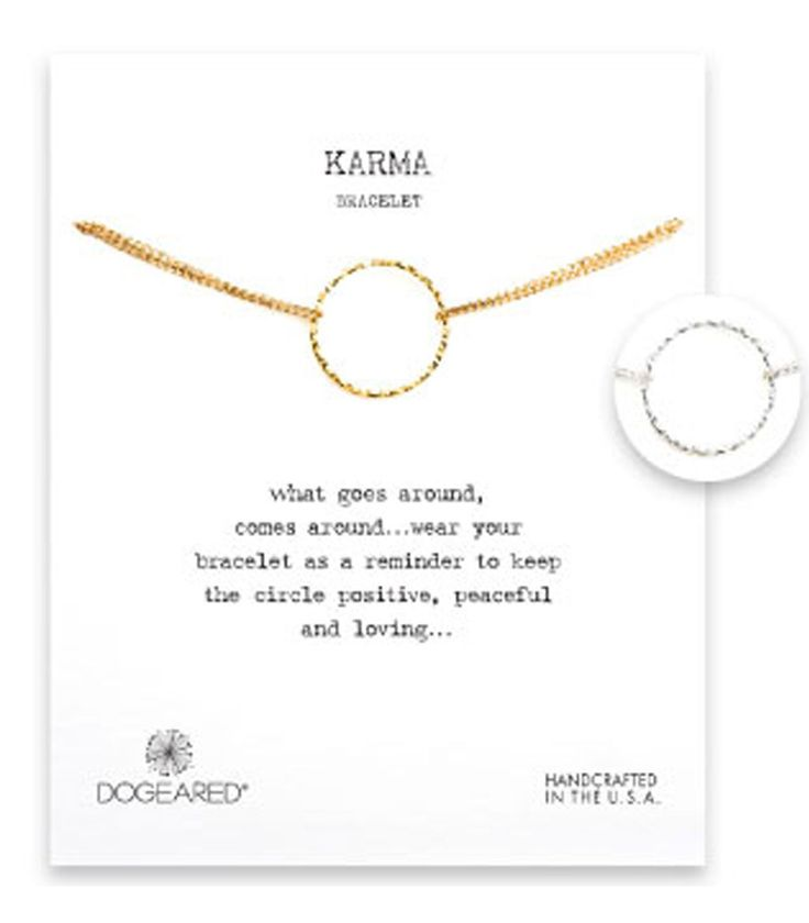 Dogeared Karma Sparkle 2-Strand Bracelet - Sterling Silver & Gold Dipped 6 inch