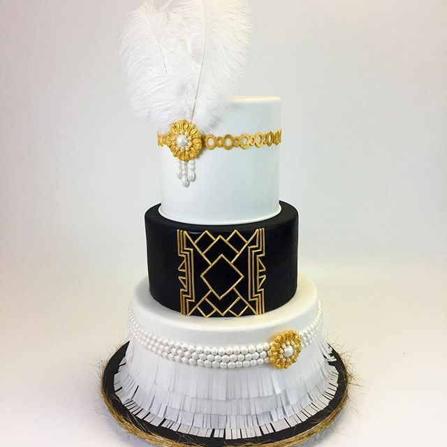 Harlem Nights Great Gatsby Cake Harlemnightsbabyshower