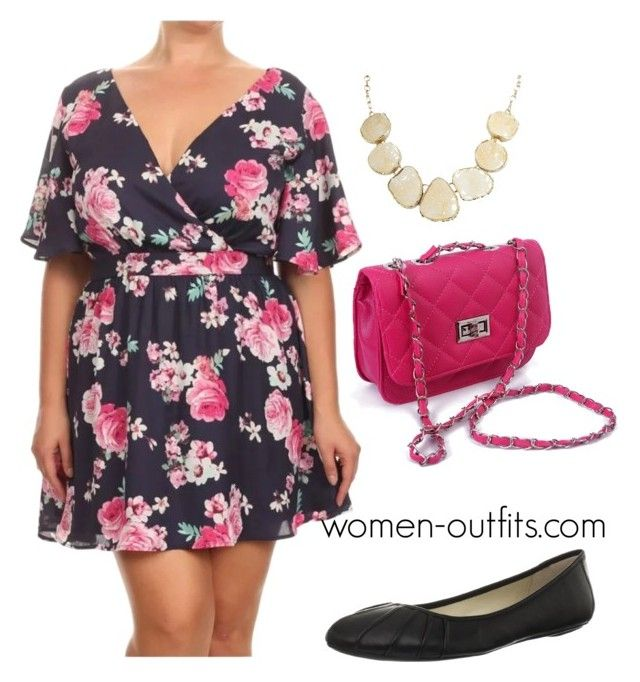 plus size short floral dress by xwtiko on Polyvore featuring Nine West