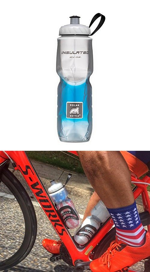 Polar Bottle Insulated Water Bottle (Blue Fade) (24 oz) - 100% BPA-Free Water Bottle - Perfect Cycling or Sports Water Bottle - Dishwasher & Freezer Safe