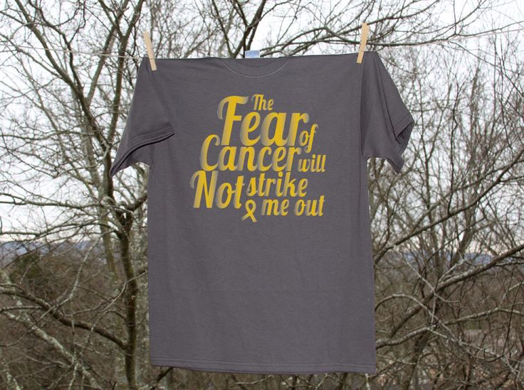 """Childhood Cancer Support """"The Fear of Cancer Will Not Strike Me Out"""" - Live 4 Tay (September Childhood Cancer Month) by Nestingproject on Etsy https://www.etsy.com/listing/108985034/childhood-cancer-support-the-fear-of"""
