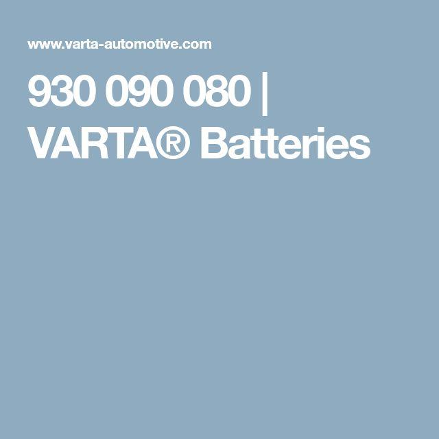 930 090 080 | VARTA® Batteries