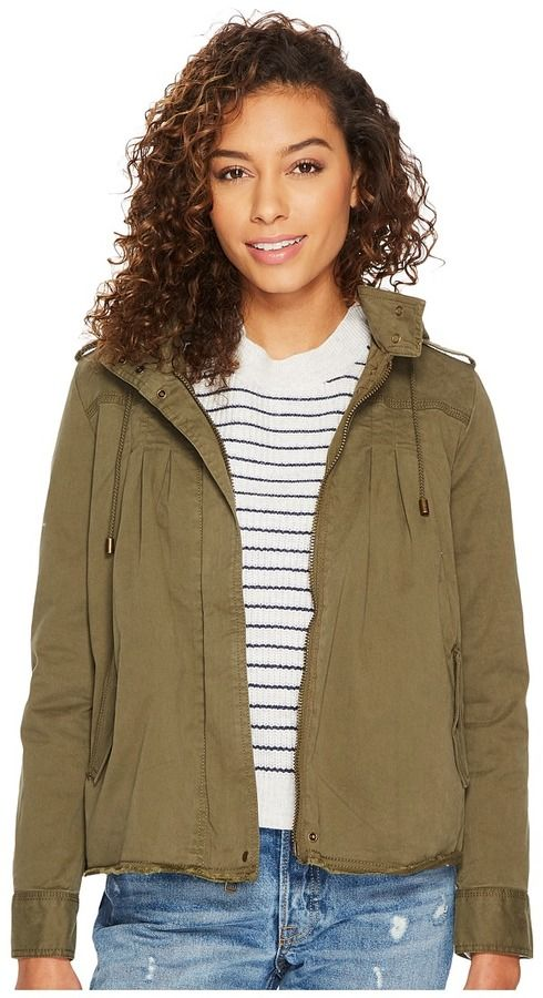 Lucky Brand Raw Edge Military Jacket Women's Coat